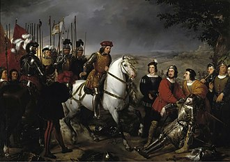 El gran capitan at the Battle of Cerignola. Elgrancapitantrasbatalladecerinola.jpg