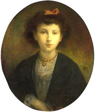 Ellen Cuffe, Countess of Desart - Portrait painting of a young Ellen Cuffe