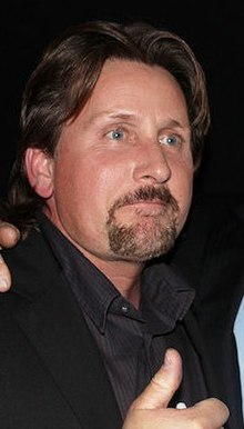Emilio Estevez and Martin Sheen (cropped to Emilio).jpg