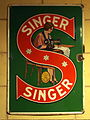 Enamel advertising sign, Singer.JPG
