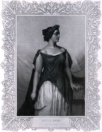 Norma (opera) - Giulia Grisi dressed as Norma. In 1831, she also sang the role of Adalgisa
