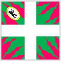 Ensign Swiss regiment Meyer in sabaudian service (reconstruction, full version).png
