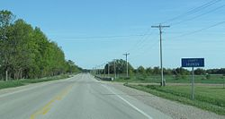 Entering Huron County on Highway 21