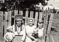 Ersa-Mordvinian Tatiana Danilova with her grandchildren - Viktor Danilov (1974).jpg