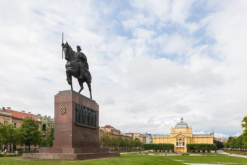 File:Estatua de Tomislav de Croacia, Zagreb, Croacia, 2014-04-20, DD 05.JPG