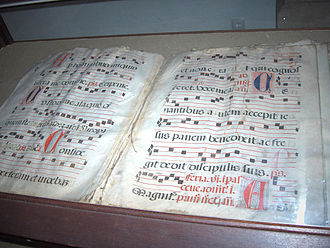 Gregorian chant - Antiphonary with Gregorian chants