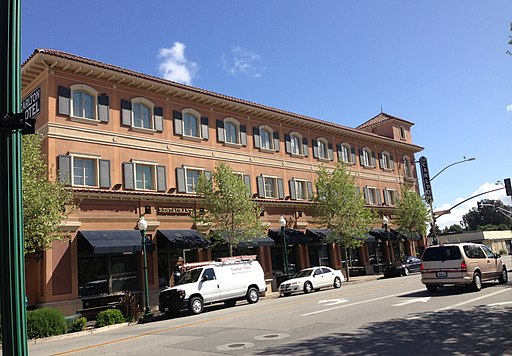 Exterior of Carlton Hotel in Downtown Atascadero 04-07-15