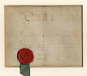 Ezra Stiles - Yale College diploma, Ezra Stiles, Class of 1746
