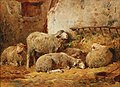 Félix-Saturnin Brissot de Warville - Small Stable Scene with Sheep.jpg