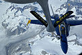 FA-18 Blue Angels refueled by KC-135 2006.JPG