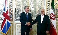 FM Javad Zarif meeting with UK Secretary of State for Foreign and Commonwealth Affairs Philip Hammond in Shahrbani Palace 139406011805265955943724.jpg