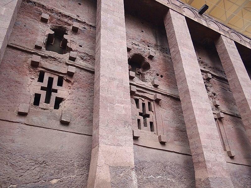 File:Facade of Bet Medhane Alem Rock-Hewn Church - Lalibela - Ethiopia - 01 (8724862981).jpg