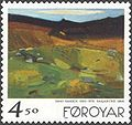 Faroe stamp 333 hans hansen - the heath.jpg