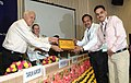 "Farooq Abdullah gave away the awards to various stake holders for their performance, at the ""National Workshop on Solar Water Heater"", organised by the Ministry of MNRE, in New Delhi on August 23, 2012 (1).jpg"
