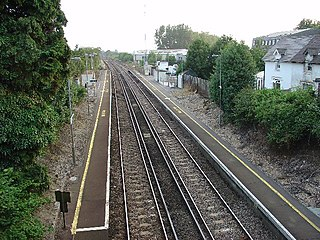 Faygate railway station in England