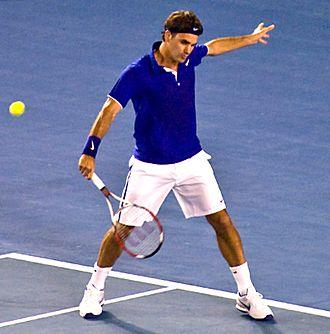 2009 Australian Open – Men's singles final - Image: Federer 2009 Australian Open crop