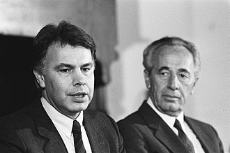 Spanish Socialist Workers' Party - Felipe González (here with Shimon Peres) was the Spanish Prime Minister from 1982 to 1996.