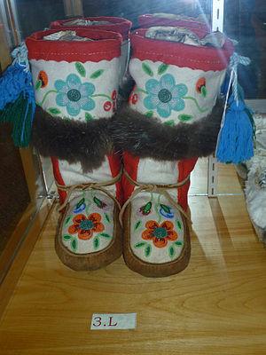 Mukluk - Felt mukluks with deerskin foot