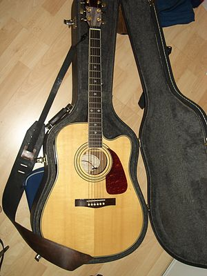 Acoustic-electric guitar - Fender DG-41SCE guitar.