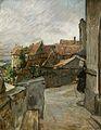 Ferdinand Dorsch Kirchhof und Dorf 1902.jpg