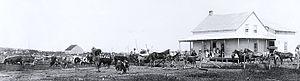 Hébertville, Quebec - Eusèbe Simard farm in Hébertville around 1906