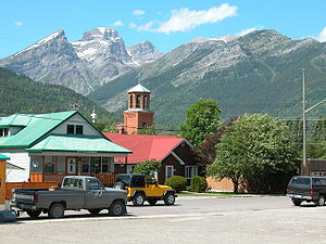 Fernie, British Columbia - The Three Sisters and Mount Proctor, as seen from central Fernie