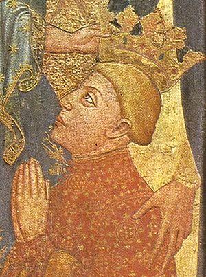 Ferdinand I of Aragon - Image: Ferran d'Antequera al retaule Sancho de Rojas (detall)