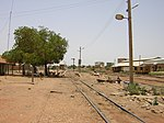 Railway station in Bahri, Khartoum, Sudan.