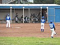 Fillmore, CA, Baseball Team and Coaches in the Dugout, Team Warming Up, 2012 - panoramio.jpg