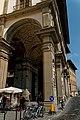 Firenze - Florence - Lungarno degli Archibugieri - View ENE on Galleria degli Uffizi 1560-81 by Giorgio Vasari (Alfonso Parigi & Bernardo Buontalenti).jpg
