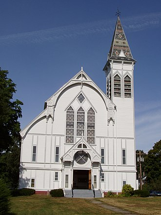 Georgetown, Massachusetts - Front view of the First Congregational Church