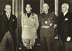 First Vienna Award - František Chvalkovský, Galeazzo Ciano, Joachim von Ribbentrop, Kálmán Kánya