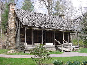 Biltmore Forest School - First ranger's house on exhibit at the Cradle of Forestry.