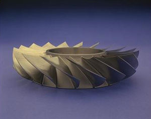 Blisk - A model of a blisk used in a gas turbine