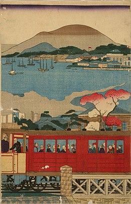 First steam train leaving Yokohama2