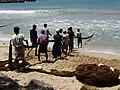 Fishermen Hauling in Catch - New Town - Galle - Sri Lanka (14047895044).jpg