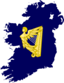 Flag map of Kingdom of Ireland (1542–1801).png