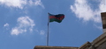 Flag of Azerbaijan in Baku, 2020 (cropped).png