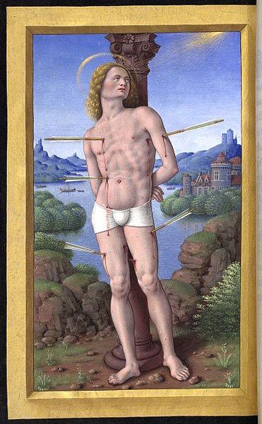 File:Fol. 175v - Saint-Sébastien.jpg