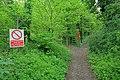 Footpath enters danger zone of military firing range, Chilcomb - geograph.org.uk - 436936.jpg