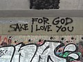 For God Sake I Love You - Graffito along Emajogi River - Tartu - Estonia (35739893450).jpg
