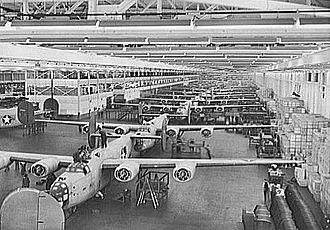 Willow Run Airport - B-24 Liberators being manufactured by Ford, 1942