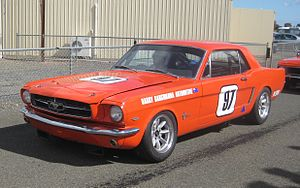 Group N Touring Cars - The Group N Ford Mustang of Harry Bargwanna at Mallala Motor Sport Park in 2011