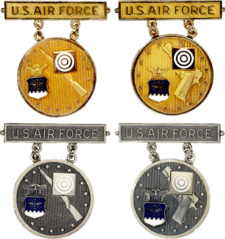 Former USAF Gold and Silver Elementary EIC Badges.png