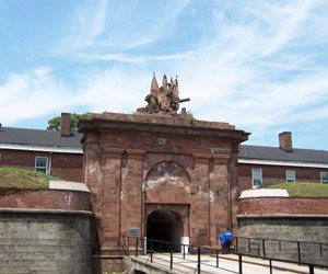 Governors Island National Monument - The entrance to Fort Jay, dating to 1794-1796, is the oldest structure on Governors Island.