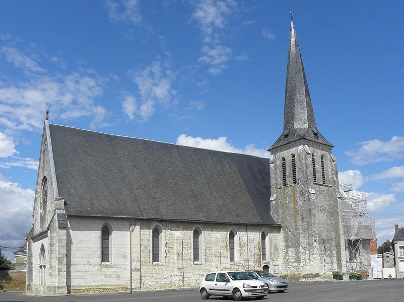 Église Saint-Étienne de Fougeré (49). Vue méridionale.