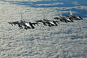 Four F-16s Fighting Falcons of the 148th Fighter Wing