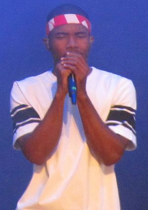 Frank Ocean - Ocean performing at the Wireless Festival in July 2013.