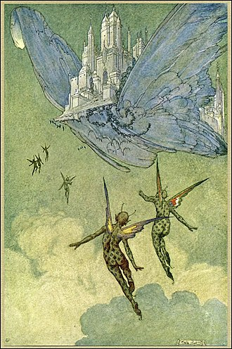 Franklin Booth - Franklin Booth, illustration for Flying Islands by James Whitcomb Riley, 1913