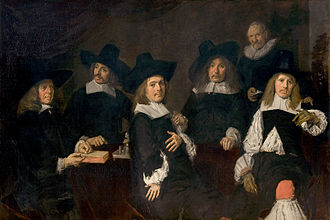 Frans Hals Museum - Group portrait of the Regents of the Old Men's Almshouse, by Frans Hals, 1664